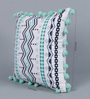 Solaj Multicolour Cotton 16 x 16 Inch Abstract Patterns Cushion Cover
