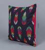 Solaj Multicoloured Cotton 16 x 16 Inch Embroidery Cushion Cover