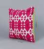 Solaj Pink Cotton 16 x 16 Inch Embroidery Cushion Cover