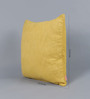 Solaj Yellow Cotton 16 x 16 Inch Woven Cushion Cover