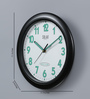 Solar Black Plastic 11 Inch Round Nightly Wall Clock