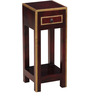 Mahesvari End Table with Brass Repousse Work by Mudramark