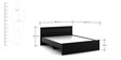 Carnival Queen Bed in Wenge Colour by Spacewood