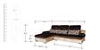 Spark RHS Sofa in Dark Brown & Cream Velvet Fabric by Sofab