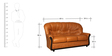 Spectra Three Seater Sofa in Brown Leatherette by Sofab
