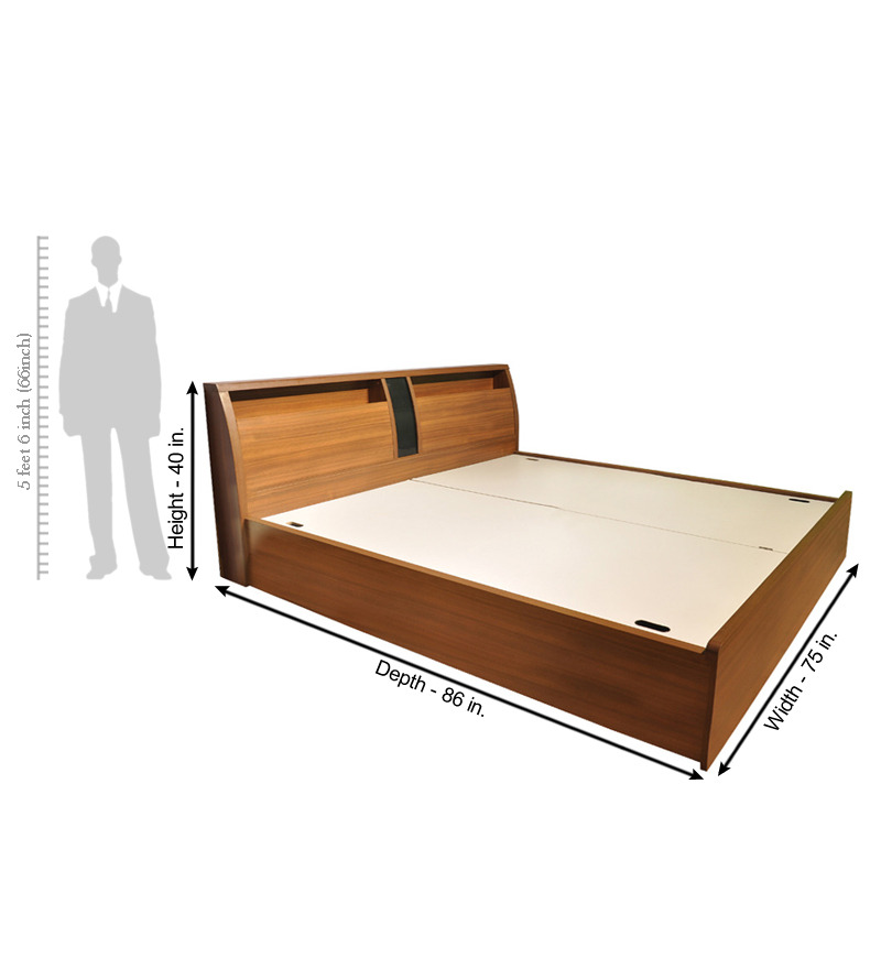 Spacewood Kosmo Monarch King Size Bed With Pull Out