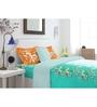 Spaces Aqua Cotton King Size Intensity Bedsheet - Set of 3