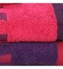 Spaces Purple & Pink Cotton Bath, Hand Towel - Set of 4