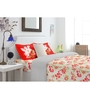 Spaces Red Cotton King Size Intensity Bedsheet - Set of 3