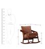 Spangle Rocking Chair in Warm Walnut Finish by Woodsworth