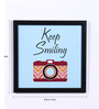 Speaking Frame Wood & Acrylic 8 x 8 Inch Keep Smiling Framed Poster