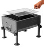 Square Extendable Barbeque with 3-pc tool set by GodsKitchen