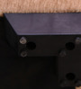 Square Pouffe in Purple & Beige Colour by RVF