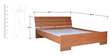 Star Queen Bed in Natural Teak Finish by Zuari
