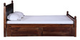 Douglas King Bed with Storage in Provincial Teak Finish by Amberville