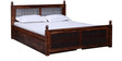 Douglas Queen Bed with Storage in Provincial Teak Finish by Amberville
