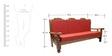 Stephens Teak Wood Sofa Set (1 + 1 + 3) Seater in Natural Teak Finish by Finesse