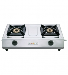 Pigeon   Stainless Steel Lpg Stoves- 2 Burner - Cute (Auto) (Black)