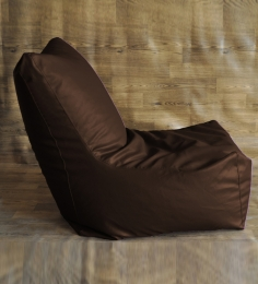 Style HomeZ Chocolate Brown XXXL Chair Shaped Bean Bag Cover (Without Beans)