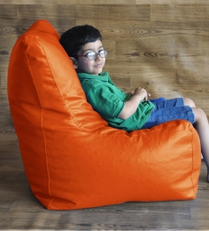 Style HomeZ Orange XL Chair Shaped Bean Bag Cover (Without Beans)