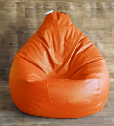 Style HomeZ Orange XXL Classic Bean Bag Cover (Without Beans)