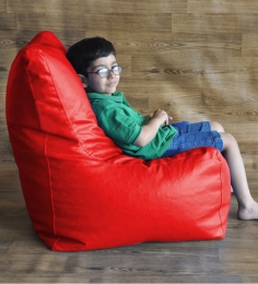 Style HomeZ Red XL Chair Shaped Bean Bag