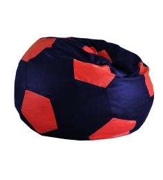 Style HomeZ Royal Blue N Red XXL Patched Football Bean Bag Cover (Without Beans)