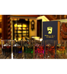 Stallion Barware Unbreakable Six Color Diwali Collection Old Fashion 350 ML Whiskey Glass - Set Of 6