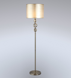 Stello Beige Fabric Floor Lamp