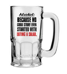 Stybuzz 600 ML Good Story Ever Started Beer Mug