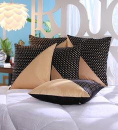 Stybuzz Beige Dupion Silk 16 X 16 Inch Cushion Covers - Set Of 5 - 1521647