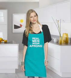 Stybuzz Real Men Wear S Quote Blue Cotton Kitchen Aprons