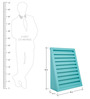 Stair Magazine Rack in Blue Colour by Asian Arts