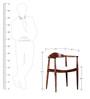 Stanwood Arm Chair in Warm Walnut Finish by Woodsworth