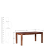 Stanwood Six Seater Dining Table in Warm Walnut Finish by Woodsworth