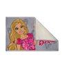 Status Barbie 2Pc Combo Rug Feet Door Mat Fine Pink