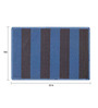Status Blue & Black Nylon 23 x 15 Inch Gypsy Door Mat