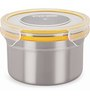 Steel Lock Multicolour 600 Ml Storage Container - Set of 3