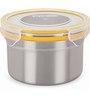 Steel Lock Multicolour 600 Ml Storage Container - Set of 2