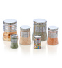 Steelo Transparent Storage Container - Set of 6