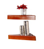 Stefano Contemporary Wall Shelves Set of 2 in Brown by CasaCraft