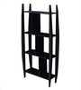 La Stella Espresso Walnut Wooden Bricko 3 Tier Wall Shelf
