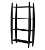 La Stella Espresso Walnut Wooden Bricko 4 Tier Wall Shelf