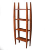 La Stella Provincial Teak Wooden Lad 4 Tier Wall Shelf