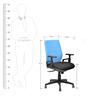Steller Ergonomic Office Chair in Blue & Black Colour by Nilkamal