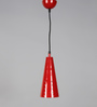 Stello Red and White Metal Pendant