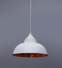 Stello White and Copper Metal Pendant