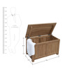 Freemont Trunk Box in Provincial Teak Finish by Woodsworth