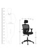 Storm High Back Ergonomic Chair in Black Colour by Star India