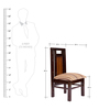 Straight Back Dining Chair in Brown Polish by Karigar